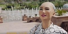 Robot Sophia Abu Dhabi Trip Video By Etihad Airways