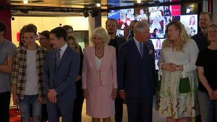 Vlogger pops skirt button in front of Prince Charles