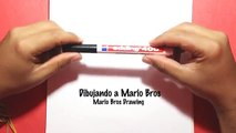 como dibujar a mario bros - how to draw super mario bros, pintando a mario bros
