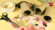 DIY Pen Holder Out Of Recycled Toilet Paper Roll - Toilet Paper Tube Craft