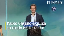 Pablo Casado explica su título en Derecho
