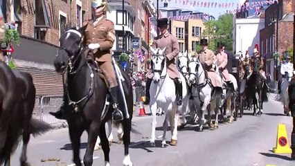 Royal wedding horse and carriage procession