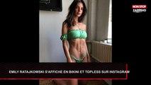Emily Ratajkowski topless et en bikini sexy sur Instagram (Vidéo)