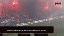 Football : Des supporters polonais mettent accidentellement le feu au stade (Vidéo)