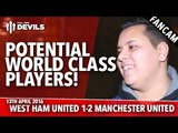 Potential World Class Players! | West Ham United 1-2 Manchester United | FANCAM