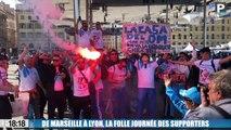 OM - Atlético : de Marseille et à Lyon, retour en vidéo sur la folle journée des supporters olympiens