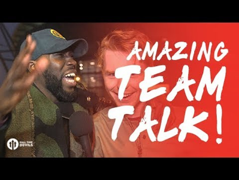 CheekySport: AMAZING HT Team Talk! Manchester City 2-3 Manchester United