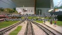 Führerstandsmitfahrt auf der Dampfbahn Furka Bergstrecke im Bahnsteig Holtmann in Spur H0m - Ein Film von Pennula über digitale Modelleisenbahnen sowie Modellbahnen und Modellbau der Eisenbahn