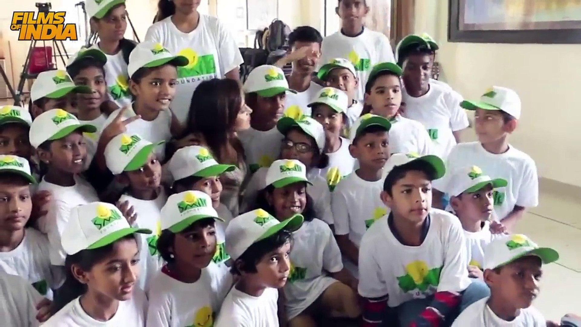 UNCUT - Nushrat Bharucha Celebrating Her Birthday with kids of Smile foundation