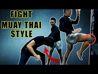 How to fight muay thai style | chest grab