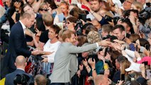 Prince Harry & Prince William Greet Well Wishers Outside Windsor Castle