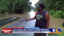Trapped Driver Rescued from Flooded Virginia Road