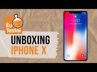iPhone X: vem alguma coisa especial na caixa? - Unboxing e hands-on EuTestei