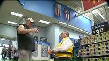 Walmart Greeter Sings Patriotic Songs for Veterans in the Store
