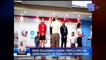 Ecuatoriana Neisi Dajomes logra triple medalla de oro en levantamiento de pesas
