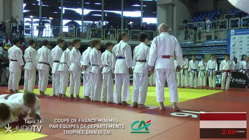 TAPIS 16 - COUPE DE FRANCE MINIMES PAR EQUIPES DE DEPARTEMENTS TROPHEE SHIN GI TAI CREDIT AGRICOLE 2018 - LIVE 8 (94)