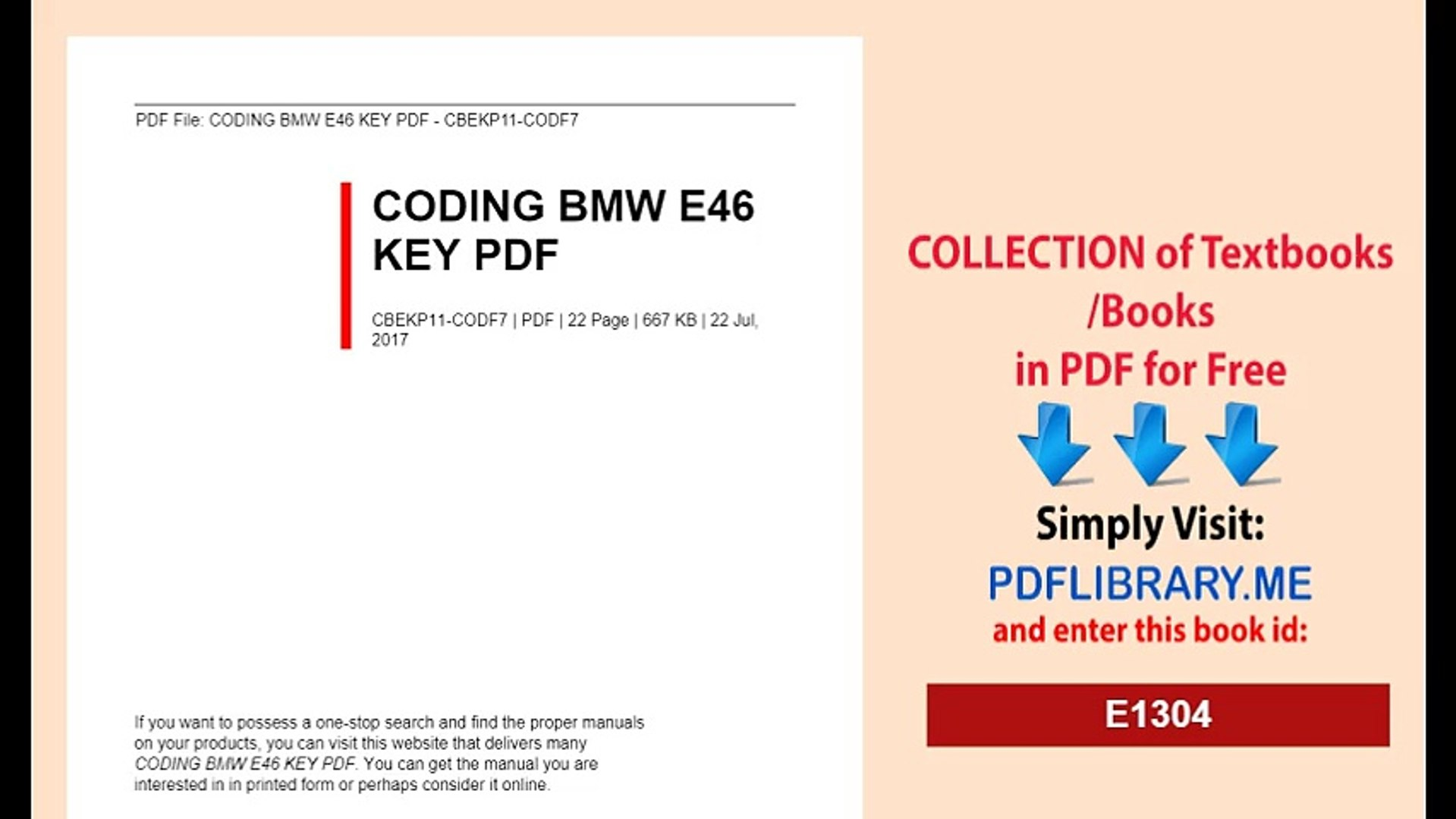 CODING BMW E46 KEY new