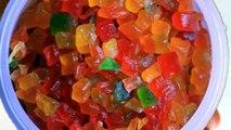tutti frutti recipe at home| Candied Fruit Cubes Recipe - টুটিফুটি রেসিপি বাংলা
