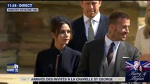 Victoria et David Beckham arrivent à la chapelle Saint-Georges pour le mariage princier