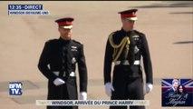 Le prince Harry arrive avec son frère William à la chapelle Saint-Georges