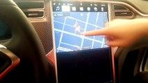 Tesla model X, Model S,.Model 3 Touchscreen Display dual mode demonstration