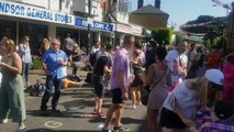 Party-goers show off their dance moves on Windsor streets