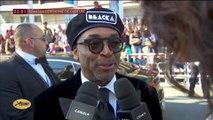 """Spike Lee réalisateur de """"BlacKkKlansman"""" sur le tapis rouge- Cannes 2018"""