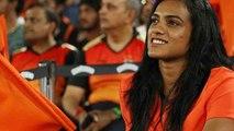 IPL 2018: PV Sindhu, Sai Dharam Tej Cheers For Sunrisers Hyderabad against KKR   वनइंडिया हिंदी