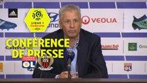 Conférence de presse Olympique Lyonnais - OGC Nice (3-2) : Bruno GENESIO (OL) - Lucien FAVRE (OGCN) - 2017/2018