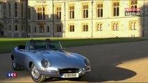 Meghan Markle et le prince Harry partent en Jaguar de Windsor (vidéo)