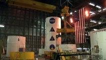 Construction de la nouvelle fusée Ares 1-X de la NASA