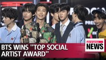 "BTS wins ""Top Social Artist"" award two consecutive years in BBMAs"