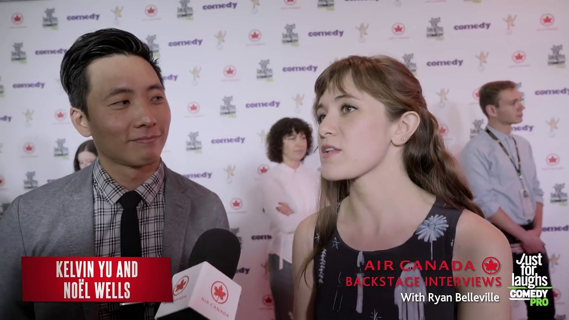 Just For Laughs Festival 2016 Backstage  Kelvin Yu and Noël Wells