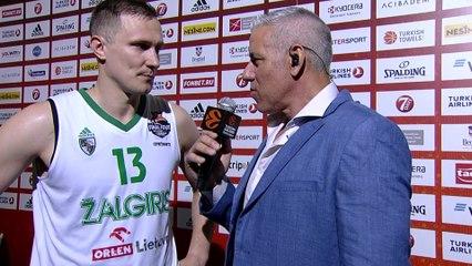 Post-game interview: Paulius Jankunas, Zalgiris Kaunas