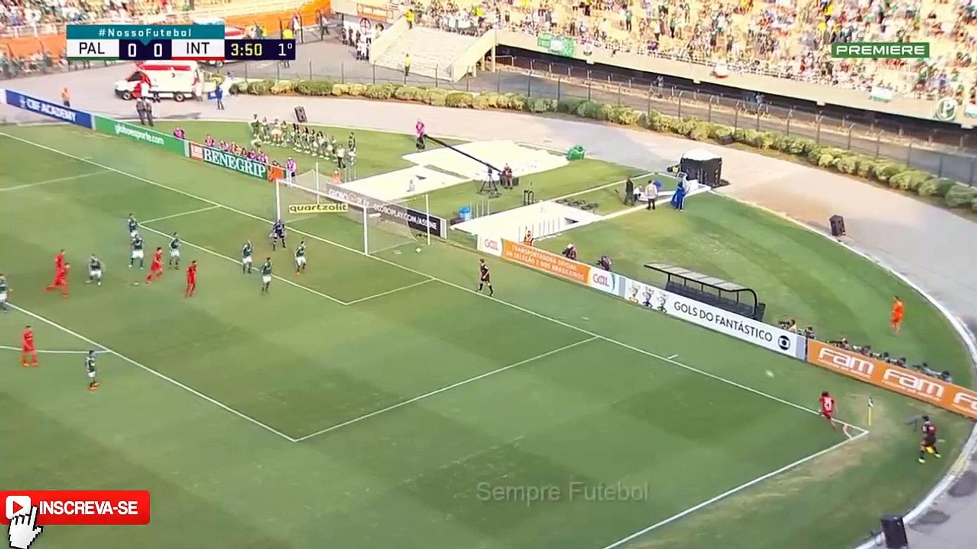 Palmeiras 1 x 0 Internacional - Melhores Momentos (1 TEMPO) Campeonato Brasileiro 2018