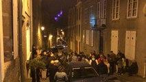 Déambulation nocturne dans la Haute-Ville lors de Pierres en lumières