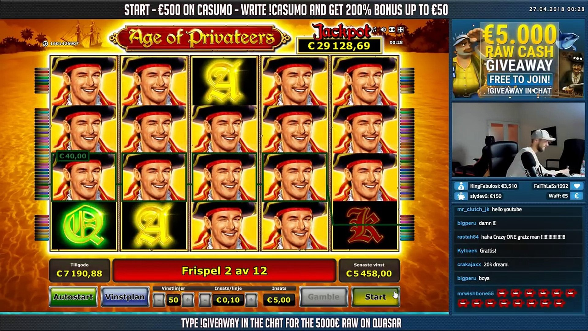 RECORD WIN!!! Age of Privateers Big win - Casino Games - Online slots - Huge Win