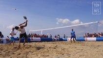 Beach Tennis, coups et règles : le service