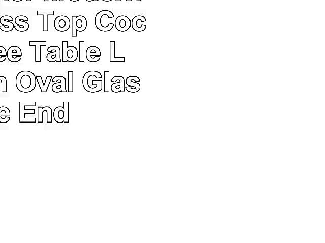 go2buy 3 Tier Modern Round Glass Top Cocktail Coffee Table Living Room Oval Glass Side End