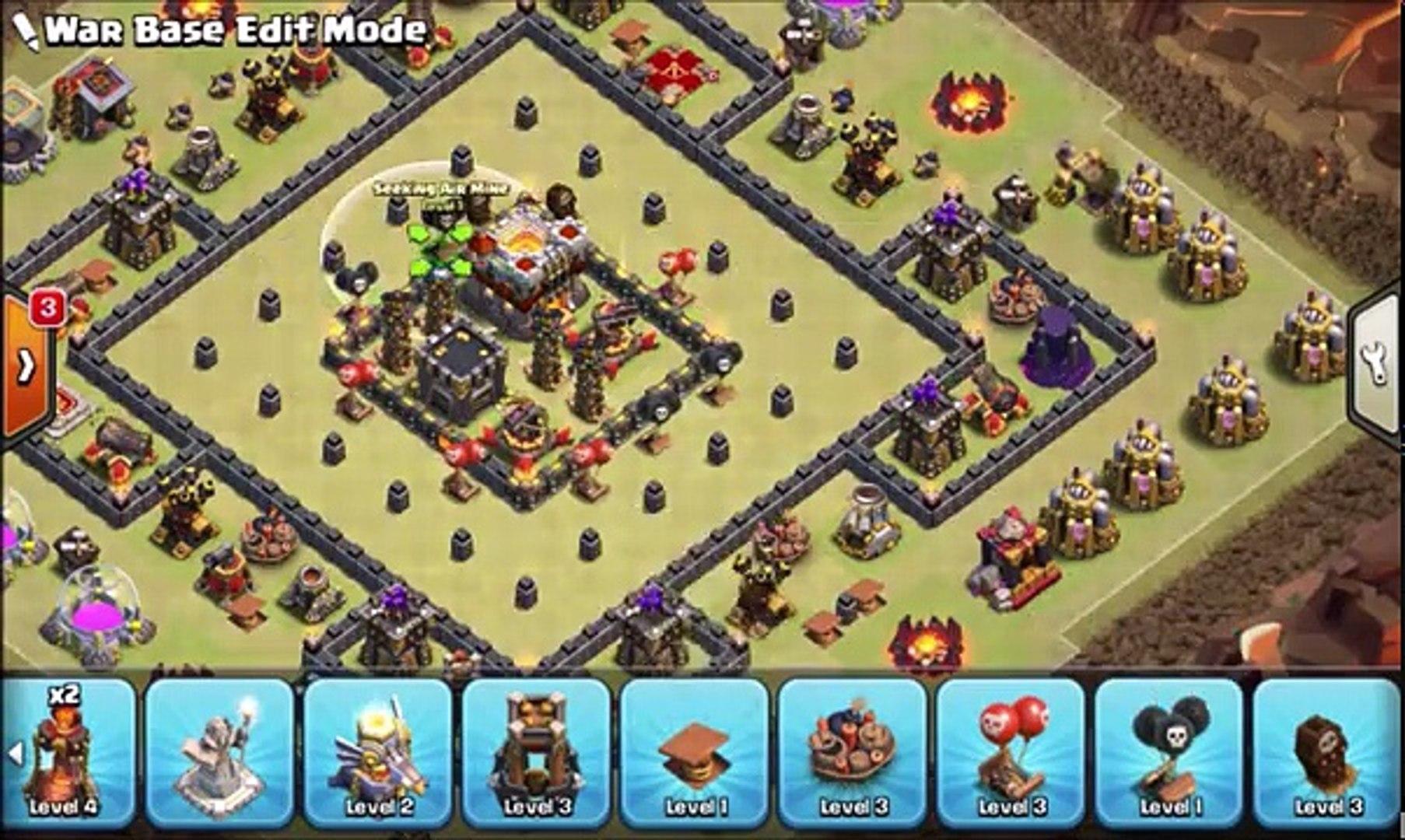 Unbeatable Th9 War Base Anti 3 Star 11
