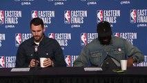 LeBron James - Kevin Love Postgame Interview | Cavaliers vs Celtics Game 3 | 2018 ECF | FreeDawkins