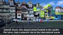 Brazilian footballer Jesus gets mural in hometown favela