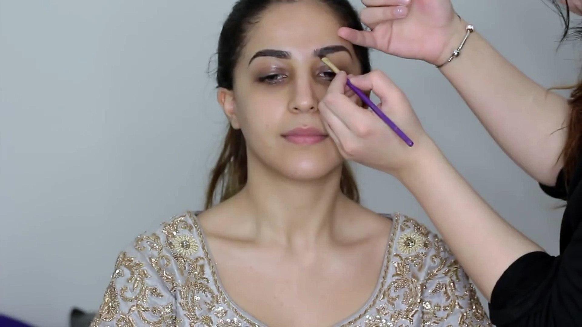 dewy walima bridal hair and makeup - beautiful asian bridal makeup tutorial