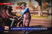 Mafia de venta de brevetes de motos suma al caos vehicular