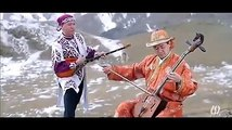 Dombra and Morin khuur.Kazakh and Mongolian musical instrument's duet.Murat Abay with Kazakh traditional musical instrument called dombra and M.Ganbold with M