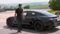 Mark Webber test drives the Porsche Mission E