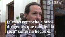"""Iglesias reprocha a otros dirigentes que no """"den la cara"""" como ha hecho él"""