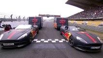 VÍDEO: Verstappen y Ricciardo la lían en una carrera de caravanas