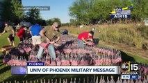 Volunteers plant 10,000 flags ahead of Memorial Day