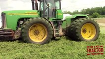 Big Farm Machines Making Haylage for Dairy Cows